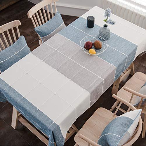 Topmail Tischdecke Rechteck Abwaschbar Polyester Elegante mit Quaste Tischtuch Couchtisch Tischdecke Gartentischdecke Geeignet für Home Küche Dekoration (Multi-1, 140 x 220 cm)