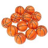LIOOBO 12pcs Mini balles de Sport pressent balles en Mousse de Basket balles Anti-Stress favorisent Les Jouets pour Enfants fête soulagement du Stress Relaxation (Orange)