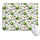 GUVICINIR マウスパッド 個性的 おしゃれ 柔軟 かわいい ゴム製裏面 ゲーミングマウスパッド PC ノートパソコン オフィス用 デスクマット 滑り止め 耐久性が良い おもしろいパターン (オーガニックアボカド、デトックス抗酸化ライフスタイルを維持)