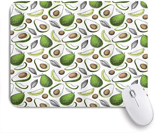 SURERUIM Mauspad - Bio-Avocado hinterlässt Detox Antioxidans Lifestyle Stay Young Print - Gaming und Office rutschfeste Gummibasis Mauspads,240×200×3mm