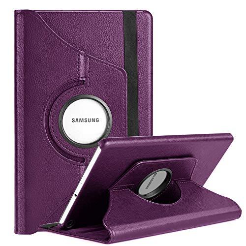 XunyLyee [Soporte giratorio 360] Funda para Samsung Galaxy Tab A 8.0 2019, Funda premium para tableta para Galaxy Tab A 8.0 2019 SM-T290 SM-T295, Color morado