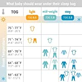 Ergobaby Sleeping Bag, Premium Cotton, Star Bright, 0.5 TOG