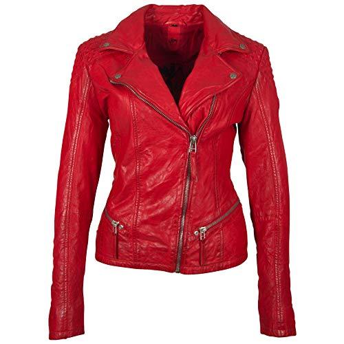 Gipsy Damen Lederjacke GGKinah LATEV aus Lammnappa Leder (M, red)