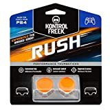 KontrolFreek Rush Performance Thumbsticks for PlayStation 4 (PS4) and PlayStation 5 (PS5) | Performance Thumbsticks | 2 Mid-Rise, Concave | Orange/White