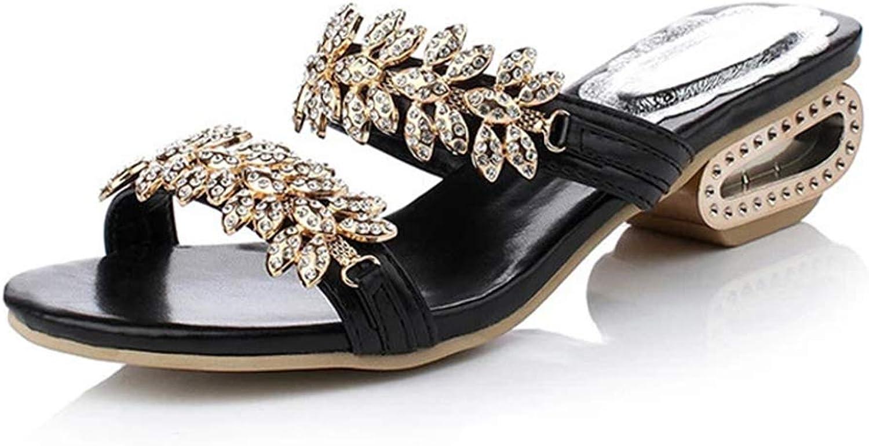 Women Sandals Crystal Fashion Women Beach Slippers Wedges Sandals