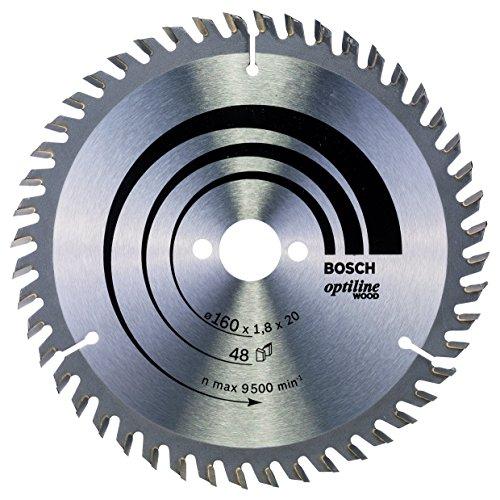 Bosch Professional Kreissägeblatt Optiline Wood (für Holz, 160 x 20 x 1,8 mm, 48 Zähne, Zubehör Kreissäge)