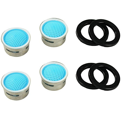 COM-FOUR® Filtro per rubinetto rompigetto con guarnizione, antiruggine Set da 4