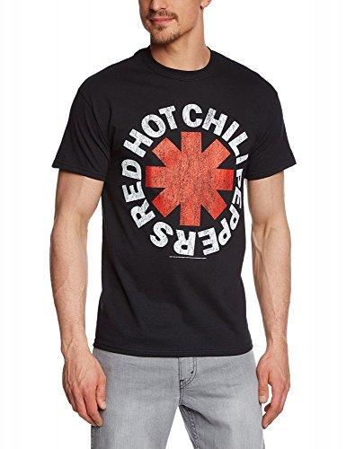 Coole-Fun-T-Shirts T-Shirt Red Hot Chilli Pepper pour Homme Noir Noir XXL