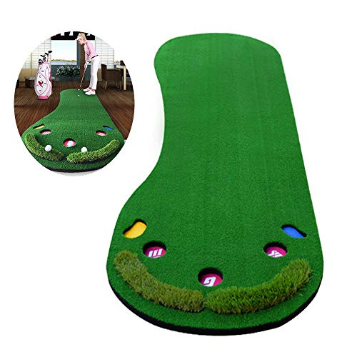 Putting Green Indoor Mat- Improve Your Putting Stroke and Lower Scores - Zero Bumps and Creases, Thick and Wide Surface