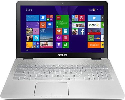 Asus N551JX-CN034H 39,6 cm (15,6 Zoll) Laptop (Intel Core i7 4720HQ, 3,5GHz, 8GB RAM, 1TB HDD, 24GB SSD, NVIDIA GF GTX 950M(2GB), Blu-ray, Win 8.1, es Display) silber