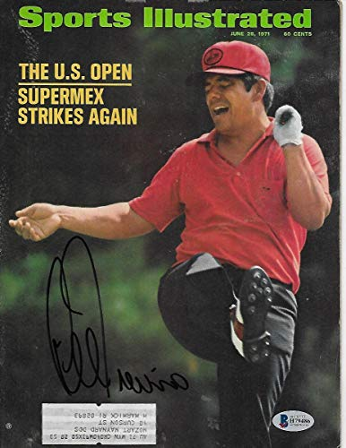 Lee Trevino Autographed Golf Sports Illustrated 6/28/71 Beckett Authenticated - Autographed Golf Equipment