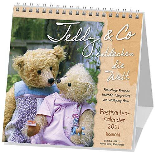 Teddy & Co entdecken die Welt 2021: Postkarten-Kalender mit flauschigen Freunden und kuscheligen Kameraden