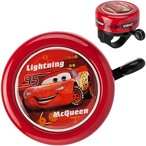 alles-meine.de GmbH Fahrradklingel -  Disney Cars / Lightning McQueen  - Klingel für das Fahrrad - für Kinder Jungen Mc Queen - auch für den Roller / Dreirad Lenkerklingel
