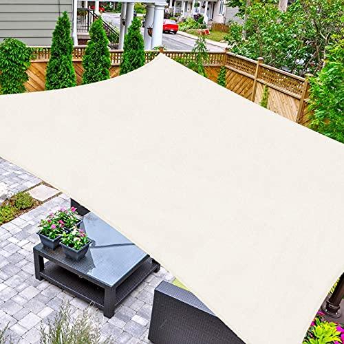 HAIKUS Toldo Vela Cuadrado 2x2 m, Vela de Sombra HDPE, Transpirable, Resistente y 95% Protección Rayos UV para Exterior, Jardín, Terrazas (Crema)