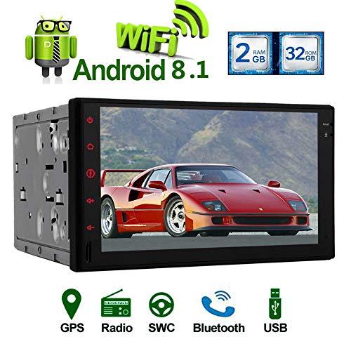 Android 8.1 Car Stereo Octa base Double Din Navigation GPS Lecteur vid¨¦o pour Universal Cars 2 Din 7¡± ¨¦cran tactile AM ??FM Dans Dash RDS R¨¦cepteur radio avec prise en charge de la carte Bluetoot