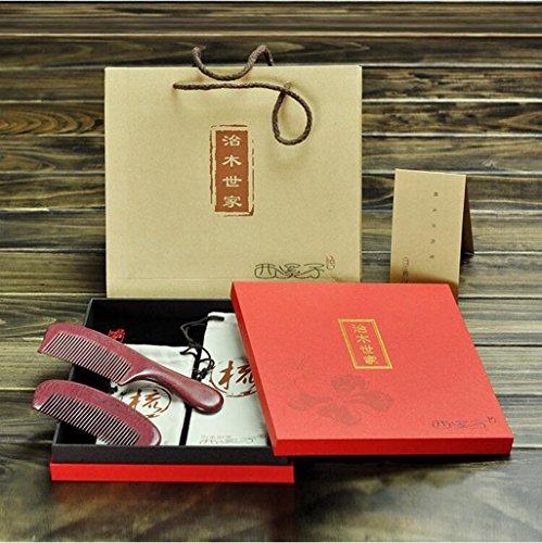 Entero de madera violeta de madera de peinados caja de regalo lettering pareja en el peine de boda regalo recto conjunto de cabello ( Color : #1 )
