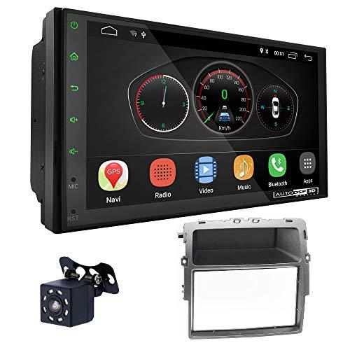 UGAR EX10 7' Android 10.0 DSP Radio de Coche mit 11-463 Panel Dash Instalación Fascia Kit Compatible para Nissan Primastar (J4) 2011+ / Opel Vivaro (X83) 2010+ / Renault Trafic II (EL,FL,JL) 2011+