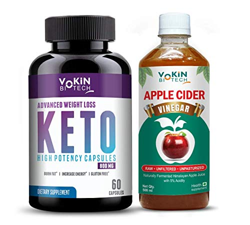 Keto Natural Advanced Fat Burner Weight Loss Supplement (free Apple Cider Vinegar and Diet Chart) 60 capsules (black)