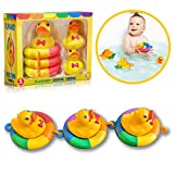 Playahoy Duck Tubing Floating Bath Toys for Boys and Girls Bathtub Float Play Connecting Rings with...