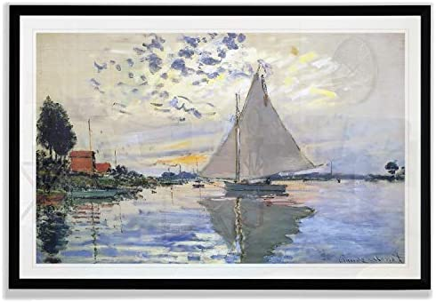 Trademark Fine Art Sailboat at Le Petit Fine Giclee Prints Wall Art in Premium Quality Ready product image