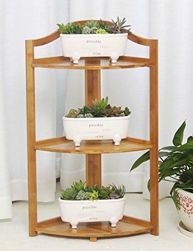 LB Bamboo Flower Rack Balcon Salon Fauteuil à fleurs en bois massif Flower Rack Trois couches à quatre couches Fives Layer Flower Rack Étagère de pot de montage ( taille : L*W*H:30*30*73cm )