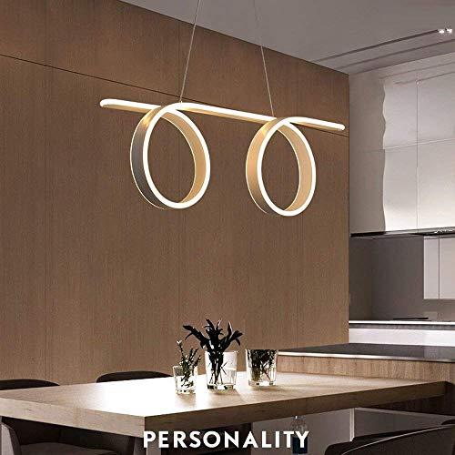 Kronleuchter HAODAMAI Deckenleuchten Hängelampe dimmbar mit Fernbedienung Led Pendelleuchte Esstisch Moderne Rund Ring
