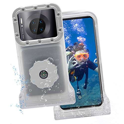 Lavigo Universal Diving Phone Case, 100ft/30m IPX8 Waterproof Protective Case for Swimming Snorkeling Underwater Photography Video Fit Samsung iPhone and One Plus Series (Transparent Color)