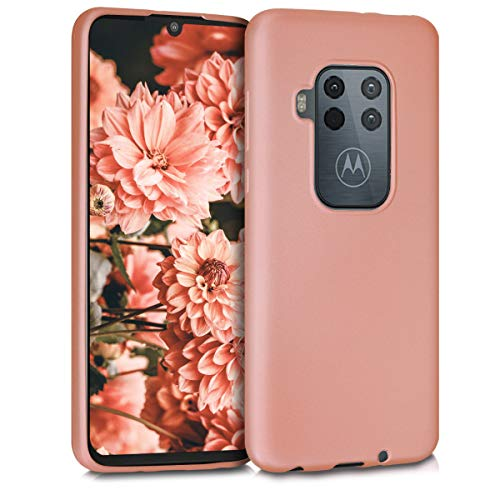 kwmobile Motorola One Zoom Hülle - Handyhülle für Motorola One Zoom - Handy Case in Metallic Rosegold