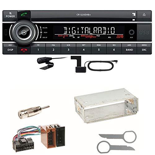 Kienzle CR 1225 DAB Digitalradio Bluetooth Autoradio CD USB AUX MP3 DAB+ Einbauset für Mercedes SLK R170 W208 W210