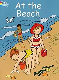 at the beach colouring
