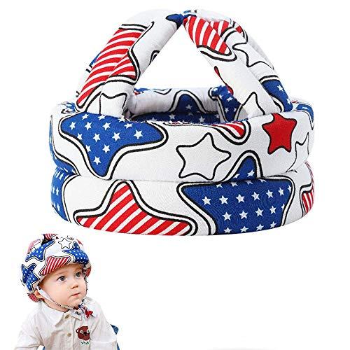 Migimi Sombrero de seguridad para bebé, casco de protección para niños pequeños, anticolisión, gorro para reposacabezas de seguridad infantil, protección para la cabeza ajustable