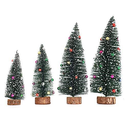 Gukasxi Künstliche Weihnachtsbäume Mini Weihnachtsbaum Künstlich Klein Weihnachtsdeko Miniatur Tannenbaum Grün Mini Christbaum Tree Klein Weihnachtsdeko Figuren Weihnachtsbaum mit Schleifen