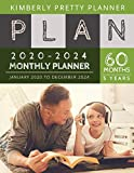 5 year monthly planner 2020-2024: 2020-2024 Monthly Planner Calendar | 5 Year Planner for 60 Months with internet record page | Listen to music design