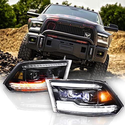 Morimoto XB LED Headlight (White DRL), Fits any 2019-2018 Dodge Ram, Plug and Play Housing Upgrade, DOT Approved LED Assembly with Switchback Sequential Turn Signals & UV Coated Lens (1x LF520-ASM)