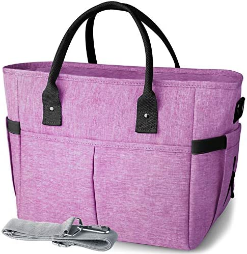 KIPBELIF Insulated Lunch Bags for Women Large Tote Adult Lunch Box for Women with Shoulder Strap product image