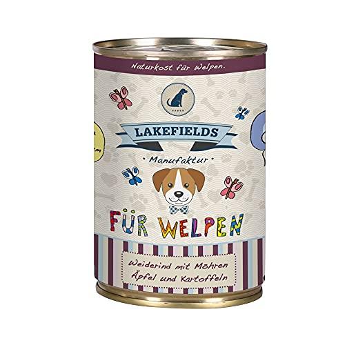 Lakefields Hochwertiges Premium Welpen Hundefutter Rind (6 x 400g)
