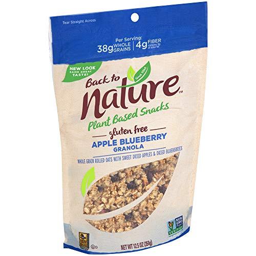 Back to Nature Gluten Free Granola, Non-GMO Apple Blueberry, 12.5 Ounce