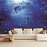 RTYUIHN Papel tapiz 3d mural mundo submarino vida marina coral mar profundo pez estrella de mar acuario dormitorio sala de estar moderna decoración de arte de pared