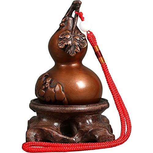 YIFEI2013-SHOP Estatua de Buda Feng Shui colgante de cobre Calabash Calabash Ornamento de la riqueza buena suerte suerte decoración del hogar Buda estatua decoraciones