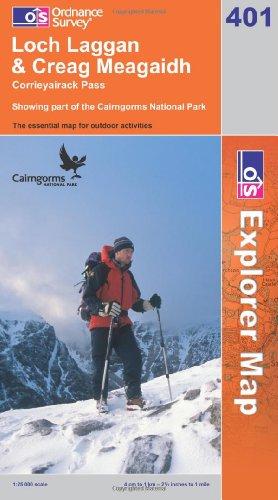 OS Explorer map 401 : Loch Laggan & Creag Meagaidh