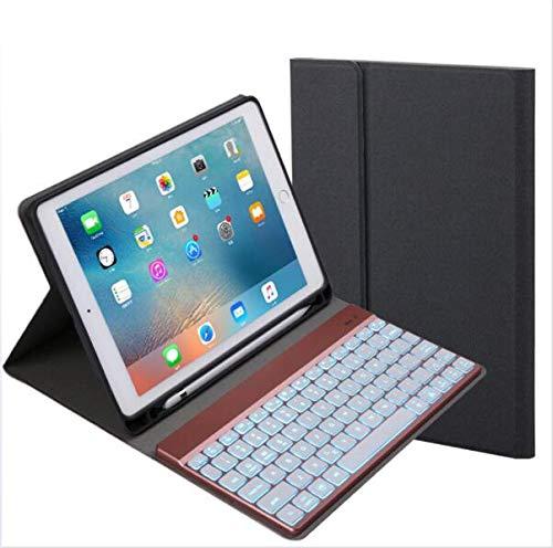 WLWLEO draadloos Bluetooth toetsenbord Caso met 7 kleuren LED backlights - Magneet Auto Sleep/Wake voor iPad 9.7