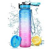 Botella de Agua Deportiva 1000ML, Botella Agua Tritan...