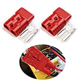 Mr.Brighton LED 175Amp Anderson Compatible 2 Pole Power Connector Plug Red w/Terminals for #1/0 AWG Wire[4 housing+8 Terminal pins]