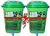 Greenrich Organic Composter 25 ltrs + 1 Bag Microbes (5 ltrs) - Convert Kitchen Waste to Manure - Mygreenbin