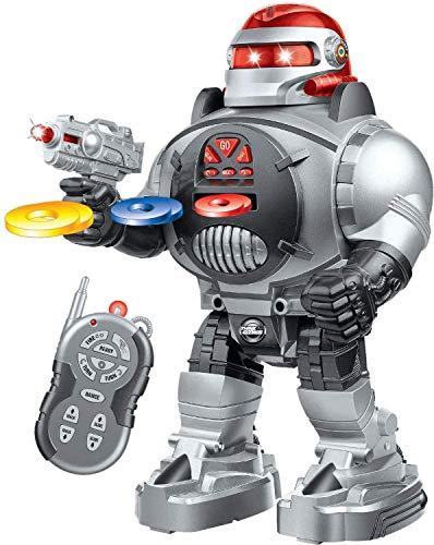 Robot Radiocomandato - Spara dischi, Balla, Parla - Robot RC Super Divertente - Robot Camminante