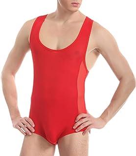 HaiDean Breathable Mens High Cut Casual Modern 1 Comfortable Piece Bikini Swimming Underwear Thong Leotard Underpants Unde...