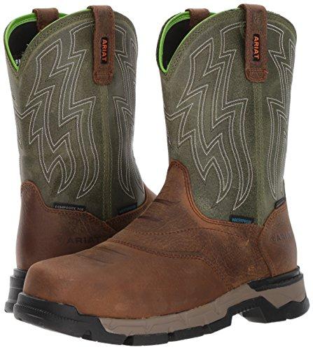 Ariat Men's Rebar Flex Western Waterproof Composite Toe Work Boot, Rye Brown, 10