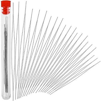 35 pcs (7Size) Beading Needles Stainless Needles?Big Eye Needles?with Bottle for Jewelry Making