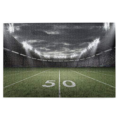Blived 1000 Teile Puzzle für Erwachsene und Kinder,American Football Stadium 3D Rendering,Jigsaw Puzzle Lernspie,Stressabbau Herausforderung Bodenpuzzle DIY Home Wanddekoration