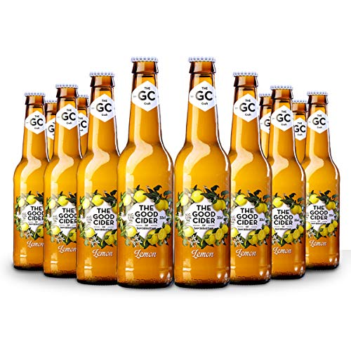 The Good Cider Lemon - Sidra de limón, Sidra Natural de Sabores – Caja 12 botellas x 33 cl